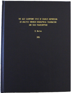 Don Norton Doctorial thesis on Charles McPherson.