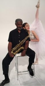 Charles with San Diego Ballet solo ballerina Camille McPherson